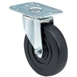 "E.R. Wagner 5"" x 1-1/4"" Light-med Duty 00 Plate Swivel Caster"