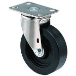 "E.R. Wagner 6x1-3/8"" Institutional 97plate Swivel Caster"
