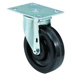 "E.R. Wagner 6x1-1/2"" Institutional 99plate Swivel Caster"