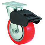 E.R. Wagner Medium-Heavy Duty Rigid Caster, 7 1/2""