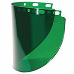 Fibre-Metal High Performance Wide View Faceshield Windows, Dark Green, Wide View, 16 1/2 in x 8