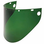Fibre-Metal High Performance Faceshield Windows, No. 5/Green, Wide View, 16 1/2 x 8