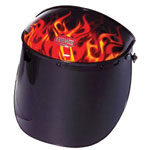 Fibre-Metal FMX FLAME HIGH PERFORMANCE FACE SHIELD W/3-C RAT