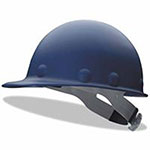 Fibre-Metal Roughneck P2 Series Protective Caps with High Heat Protection, Ratchet, Blue