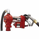 Fill-Rite Rotary Vane 115 Volt AC Pumps w/ Hose and Manual Nozzle, 1 in, 12 ft Hose