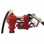 Fill-Rite Rotary Vane 115 Volt AC Pumps w/ Hose,/Manual Nozzle/Cable, 3/4 in, 12 ft Hose