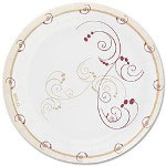 "Solo Design Disposable 9"" Paper Plates, Nature Design, Pack of 50"