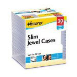 Memorex Slim Jewel Cases Storage CD Slim Jewel Case