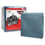 Brawny Medium-Duty Airlaid 1/4 Fold Wipes, 13 x 13, Blue, 50/Pack, 8 Packs/Carton