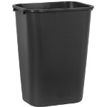 Rubbermaid Black Soft Molded Plastic Wastebasket, 41 1/4 Quart