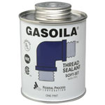 Gasoila Chemicals Soft-Set Thread Sealants, 1 pt Brush Top Can, Blue/green