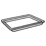 "Genpak 2SBK Black Foam Meat Tray, 8 1/4"" x 5 3/4"" x 1/2"""