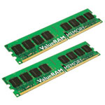 Kingston ValueRAM - 4 GB Memory (2 x 2 GB), DIMM 240-pin, DDR II, 400 MHz / PC2-3200 - CL3 - 1.8 V - Registered - ECC