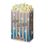 Ecocraft Theater Popcorn Bag 85oz Blue Stripe