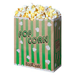 Ecocraft Theater Popcorn Bag 130oz Green Stripe