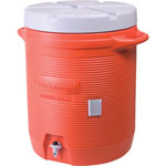 Rubbermaid 7 Gal Orange Plastic Water Cooler 1655