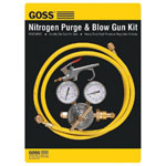 Goss Nitrogen Purge & Blow Gun Kits, High Pressure Regulator, 6 ft Hose, Blow Gun