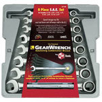 Gearwrench 8 Piece Fractional Ratcheting Wrench Set
