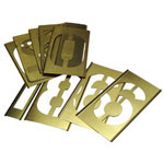 "C.H. Hanson 2"" 45 Piece Letter & Numberstencil Set Brass"