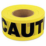 C.H. Hanson Barricade Tape, 3 in x 1,000 ft, Yellow, Caution