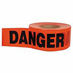 C.H. Hanson Barricade Tape, 3 in x 1,000 ft, Red, Danger