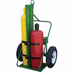 Saf-T-Cart 500 Series Carts, Holds 2 Cylinders, 9.5in-12.5in dia., 1,800 lb. Load Cap.