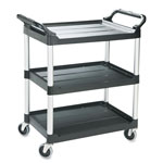 Rubbermaid Black Light Duty Utility Cart