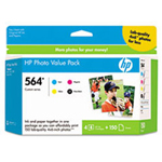 HP 564 Series Photo Value Pack print cartrid/ paper kit