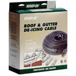Wrap-On Roof & Gutter De-Icing Cable, 40', Gray