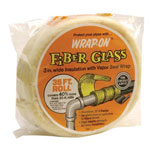 "Wrap-On W040 1/2"" x 3"" x 35' Fiber Glass Insulation"