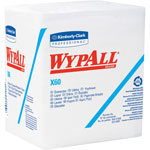 WypAll* X60 Cloths, 1/4 Fold, 12 1/2 x 13, White, 76/Box, 12 Boxes/Carton