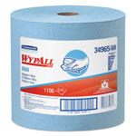 WypAll* X60 Cloths, Jumbo Roll, 12 1/2 x 13 2/5, Blue, 1100/Roll