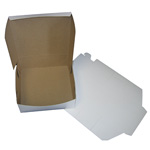 "BOXit White Bakery Box, 8"" x 8"" x 2.5"""