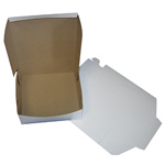 "BOXit White Bakery Box, 9"" x 9"" x 4"""
