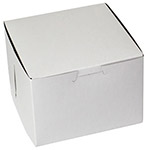 "BOXit White Bakery Box, 5.5"" x 5"" x 4"""