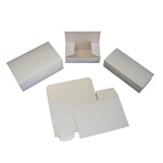 "BOXit White Bakery Box, 12"" x 12"" x 6"""