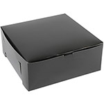 "BOXit Black Cupcake Box, 10"" x 10"" x 4"""