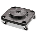 Rubbermaid Black Twist On/Off Square Brute Dolly