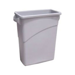 Rubbermaid Gray Waste Container With Handles