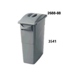Rubbermaid Blue 23 Gallon Waste Container With Handles