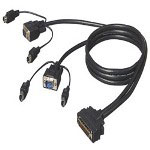 Belkin OmniView ENTERPRISE Series - Keyboard / Video / Mouse (KVM) Cable - 6 Pin PS/2, HD-15 (M) - DB-50 (M) - 25'