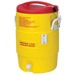 Igloo Heat Stress Solution Water Coolers, 5 Gallon, Red and Yellow