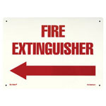 "Jessup Glow In The Dark Fire Sign, 10"", Glow Background, Red Text"