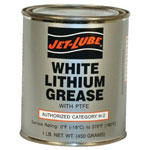 Jet-Lube White Lithium Grease 1lbcan w/Teflon