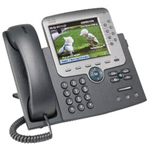 Cisco Cisco Unified IP Phone 7975G VoIP Phone - SCCP, SIP - Silver, Dark Gray