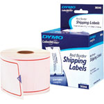 Dymo Shipping Red Border - Permanent Adhesive Labels - 300 Label(s)