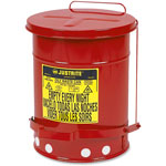 Justrite 6 Gallon Oily Waste Canw/Lever
