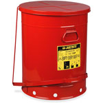 Justrite 21 Gallon Oily Waste Canw/Lever