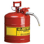 Justrite Type II AccuFlow Safety Can, 2 1/2 gal, Yellow
