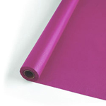 "Creative Converting 82"" Dusty Rose Plastic Tablecover"